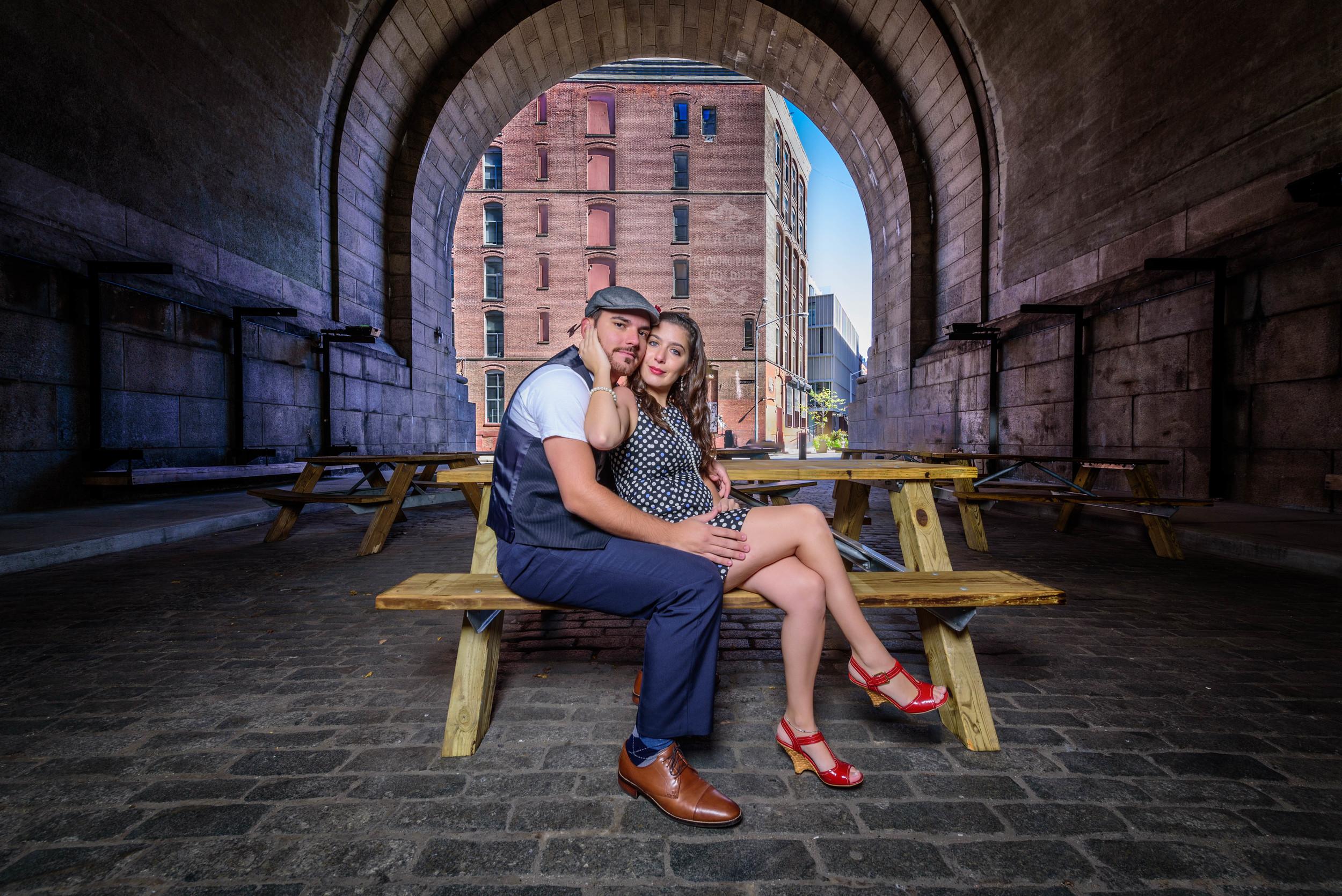 free engagement shoot session dumbo brooklyn nyc wedding photograper