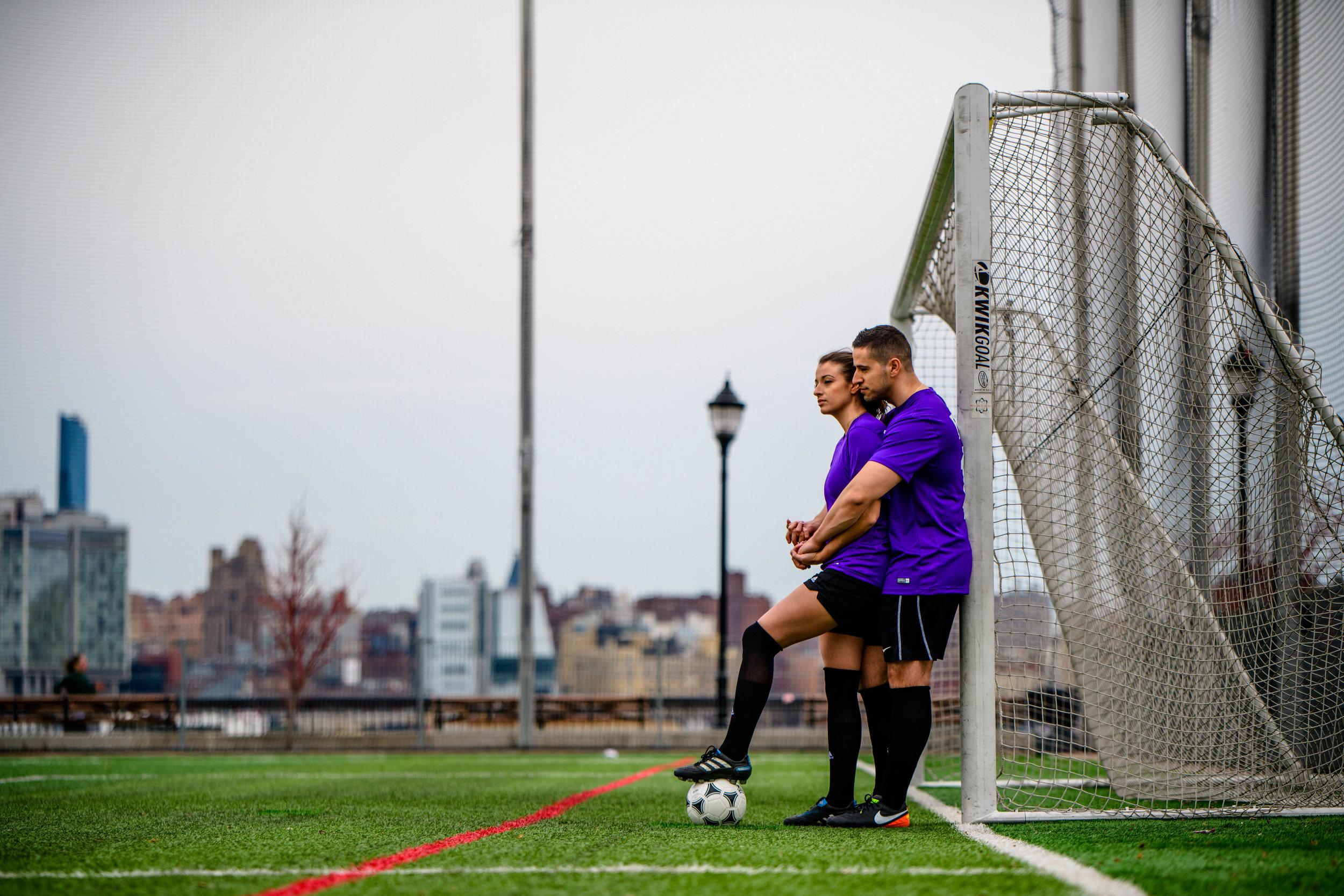 hoboken nj new jersey engagement session soccer