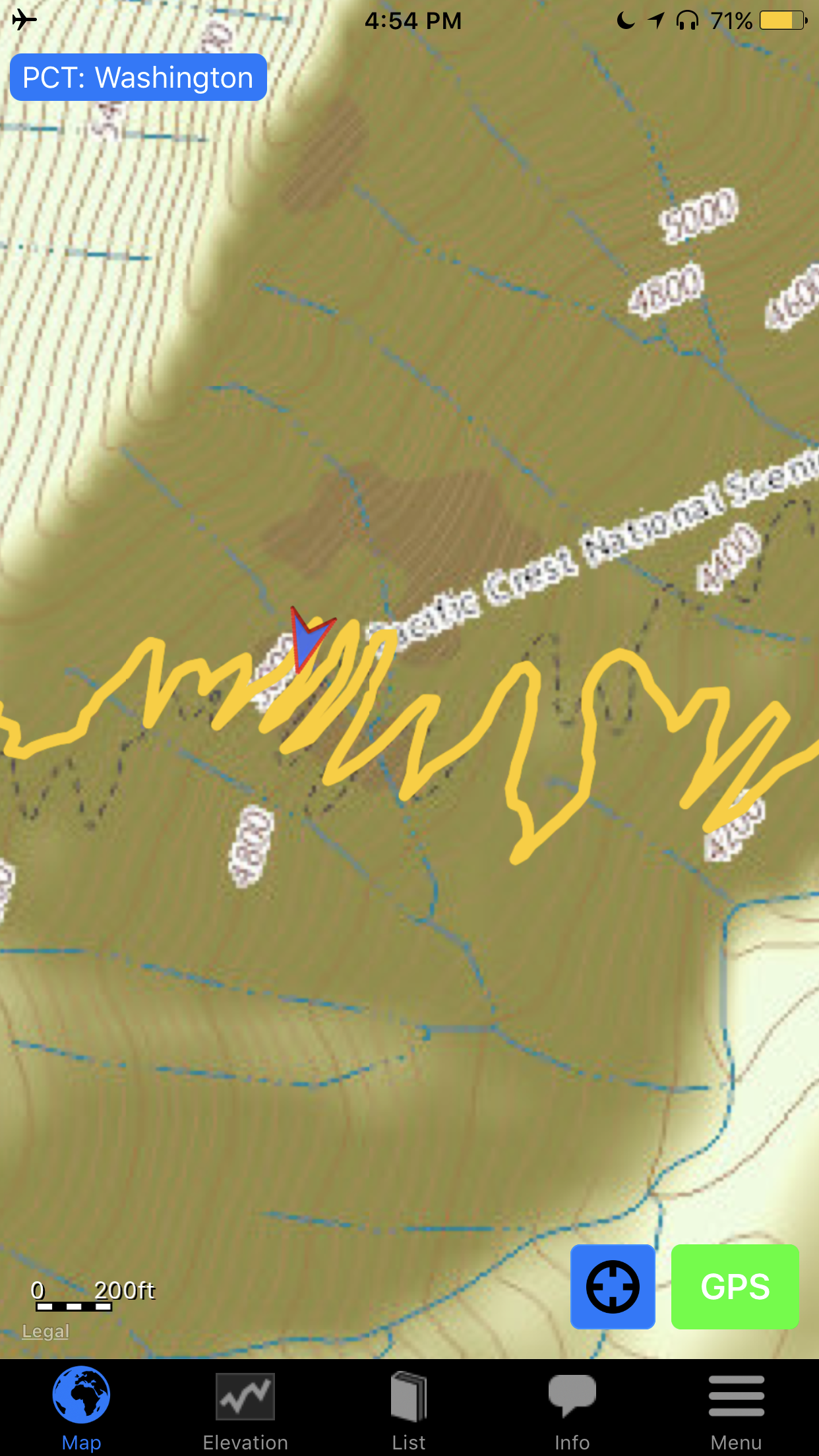 PCT in a nutshell.   You want switchbacks? We got switchbacks.