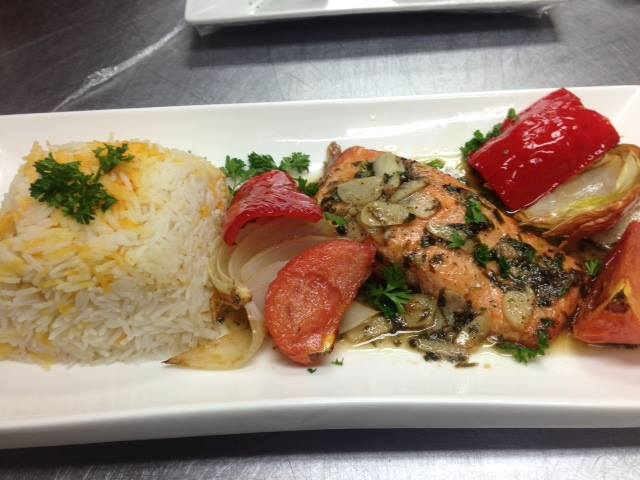 ZAAKI MIDDLE EASTERN RESTAURANT AND HOOKAH LOUNGE OF VIRGINIA AND DC 130-SALMON RICE WITH VEGGIES.jpg