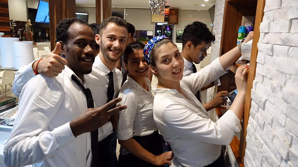 Zaaki restaurant and hookah bar waiters