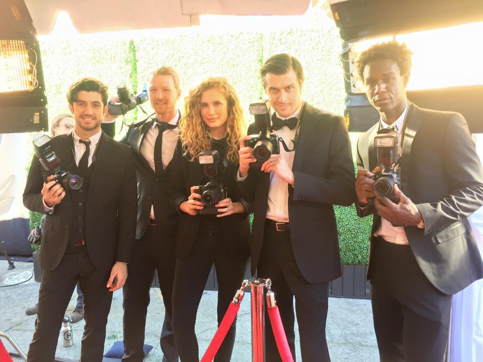 Outside Capitol Records with the red carpet photographers