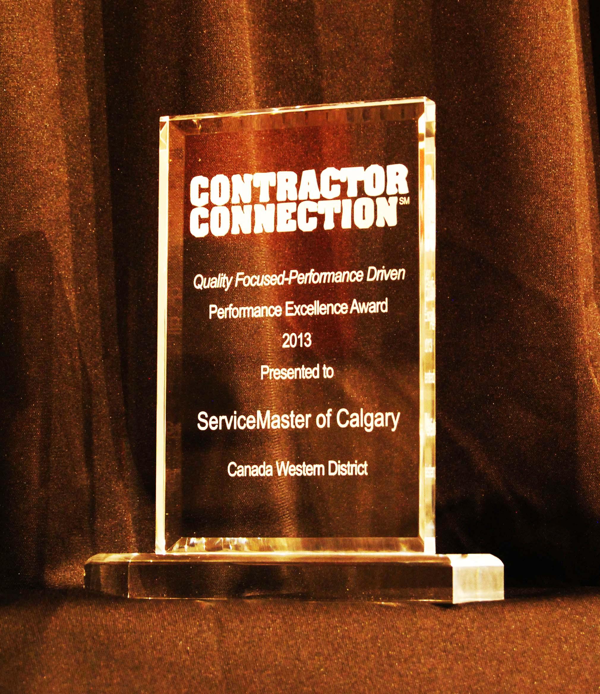 Contractor Connection 2013 Award
