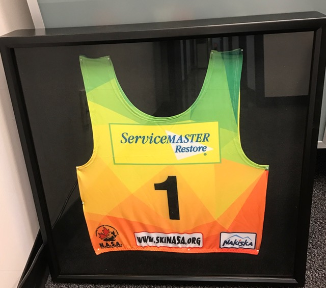 ServiceMaster of Calgary will proudly display the #1 Bib presented To Rob and Beth Ordman as a token of NASA's appreciation in our office.