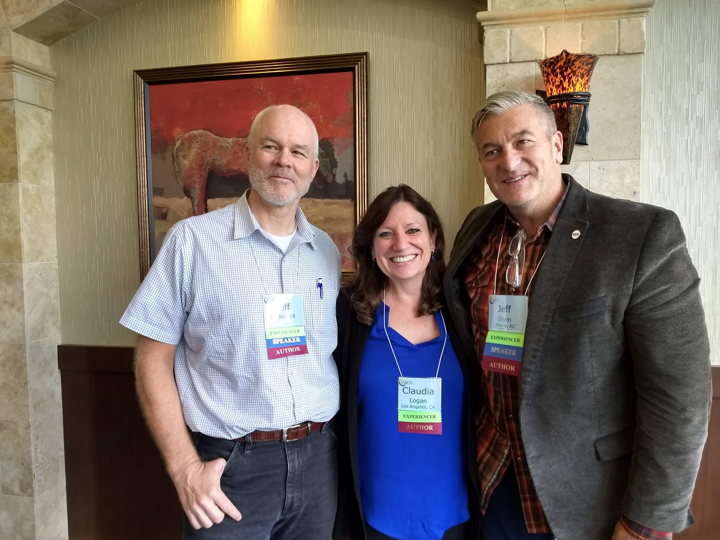 Claudia Logan, Dr. Jeff O'Driscoll and Jeff Olsen