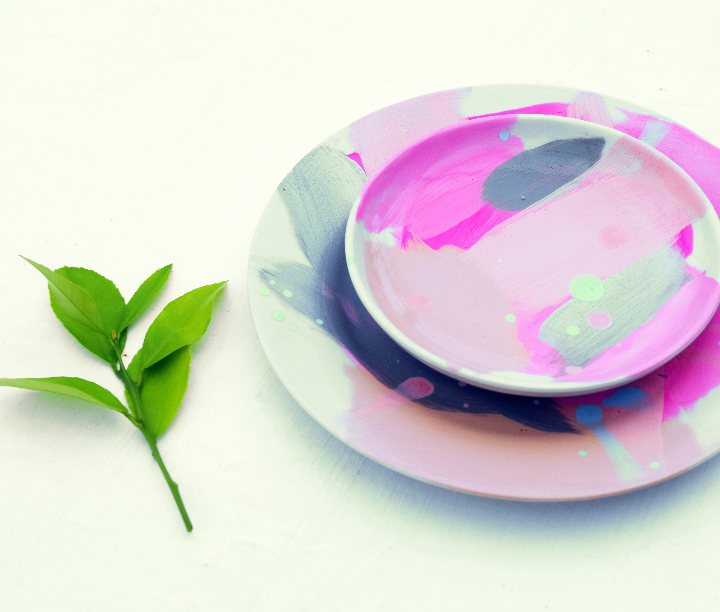 Salad plate and Dipping Bowl