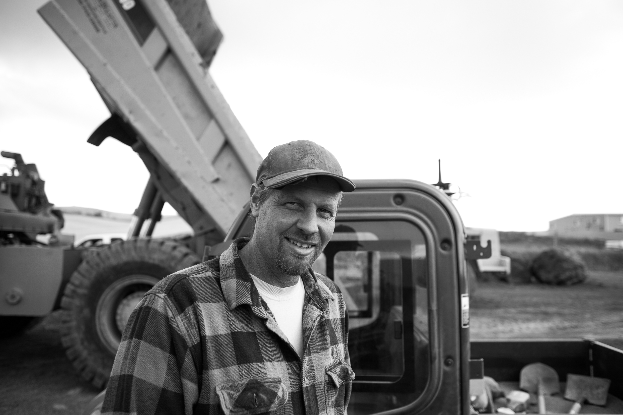 one of the guys working on the earth removal
