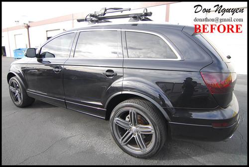 Audi Q7 SUV - Matte Black Window Trim Car Wrap