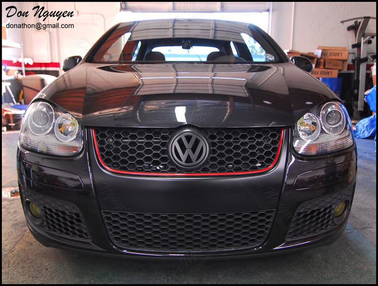 VW Golf GTI MkV - Matte Black Grill Vinyl Car Wrap