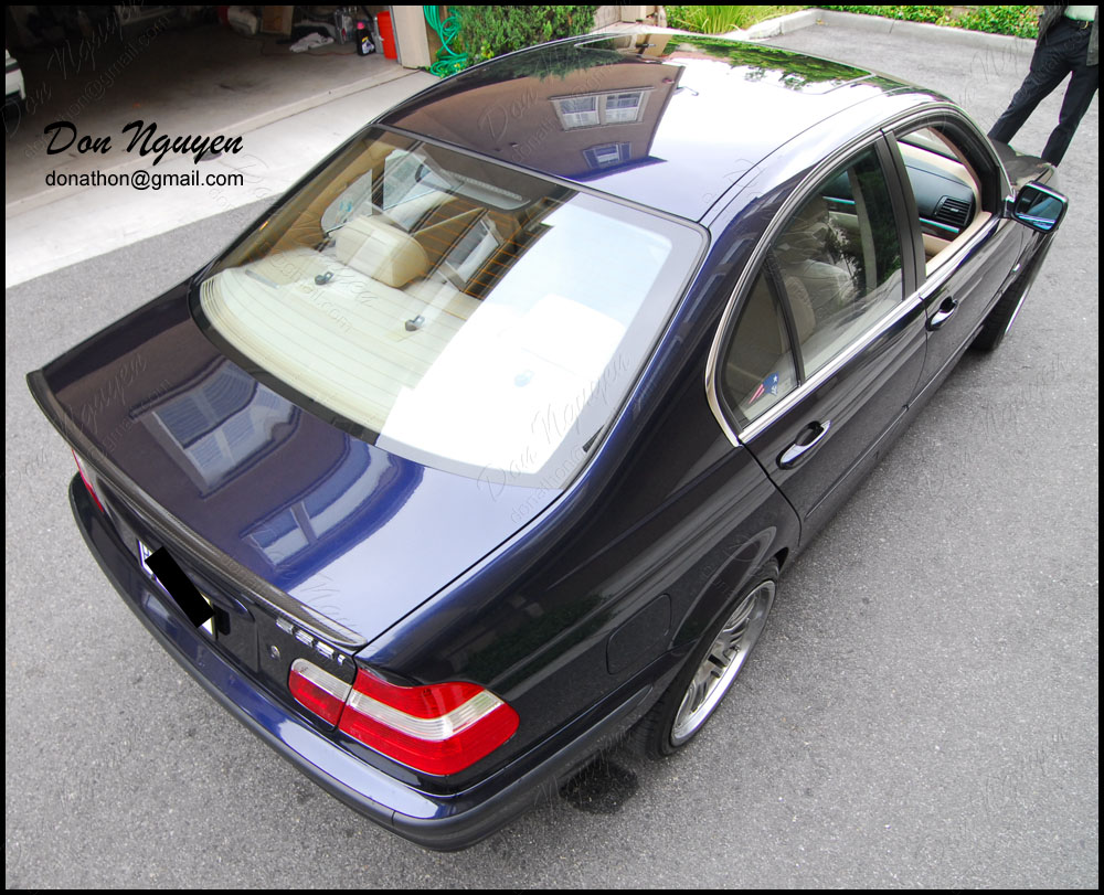 BMW 325i E46 Sedan - Matte Carbon Fiber Roof and Trunk Vinyl