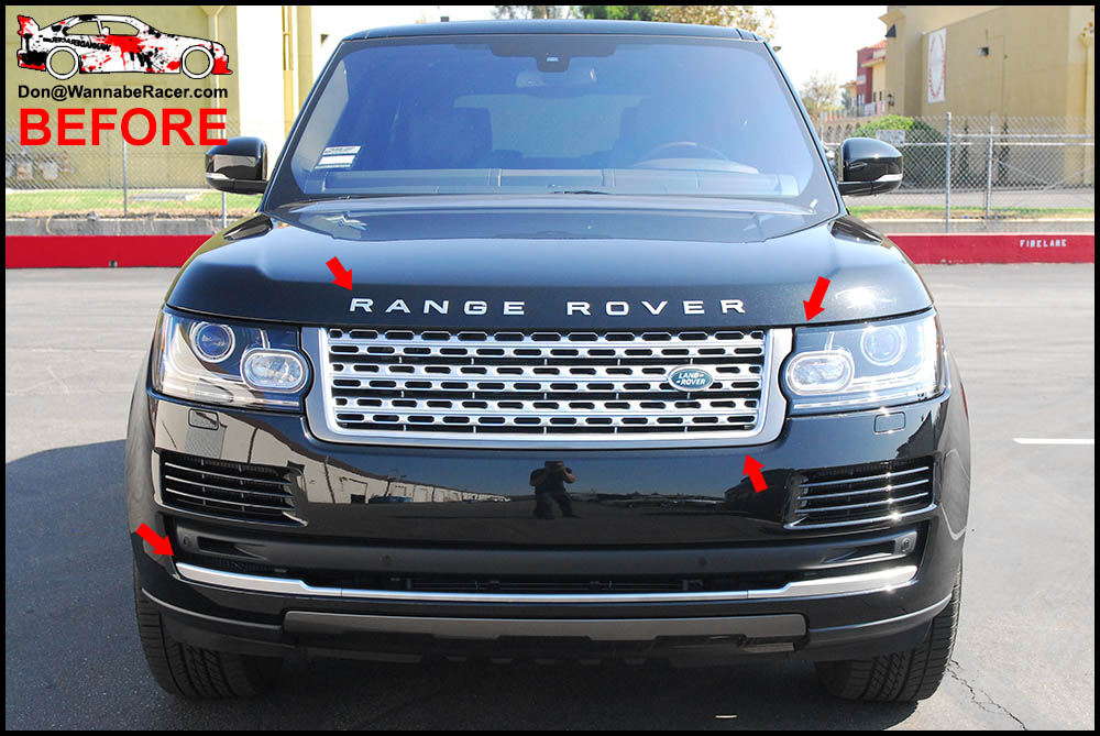 Land Rover Range Rover HSE - Gloss Black Trim Vinyl Car Wrap