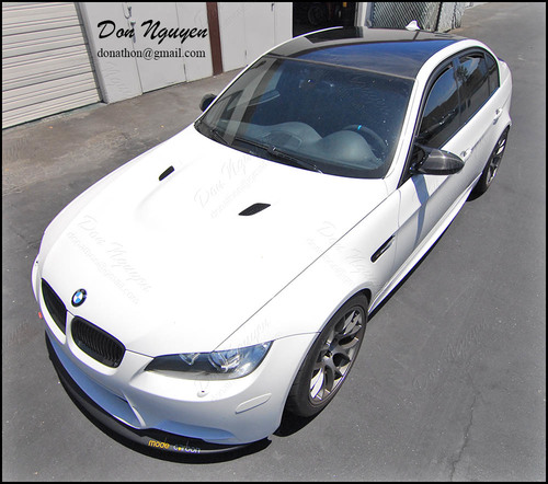 BMW E90 M3 Sedan - Gloss Black Roof Vinyl Car Wrap