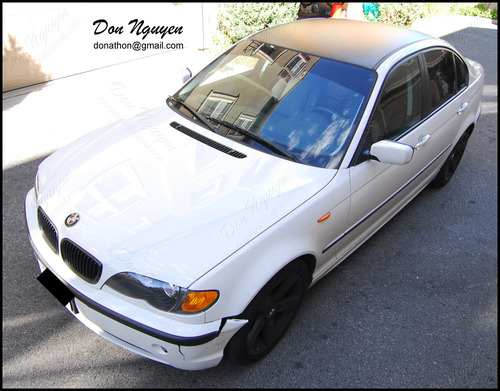 BMW 325i E46 Sedan - Matte Black Roof Vinyl Car Wrap