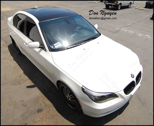 BMW 528i E60 Sedan - Gloss Black Roof Vinyl Car Wrap