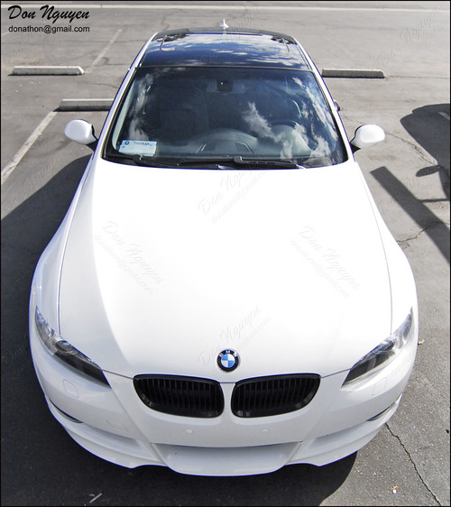 BMW 328i E92 Coupe - Gloss Black Roof Vinyl Car Wrap