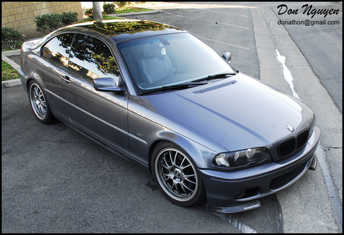 BMW 330i E46 Coupe - Gloss Black Roof Vinyl Car Wrap
