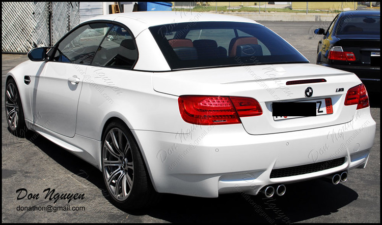 BMW M3 E93 Convertible - Matte Black Window Trim Vinyl Car Wrap