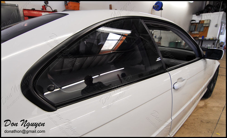 BMW E46 330i - Matte Black Window Trim Vinyl Car Wrap