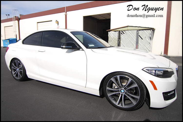 BMW F22 235i Coupe - Gloss Black Window Trim Wrap