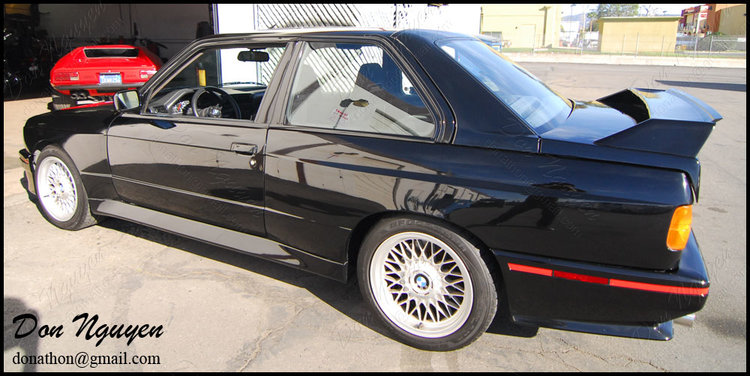 BMW E30 M3 Coupe - Matte Black Window Trim Vinyl Wrap