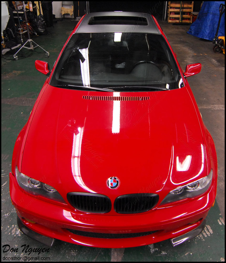 BMW 330i ZHP E46 Coupe - Matte Carbon Fiber Roof Vinyl Car Wrap