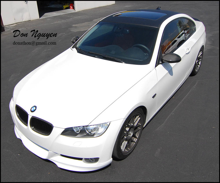 BMW E92 328 Coupe - Matte Carbon Fiber Roof Vinyl Car Wrap