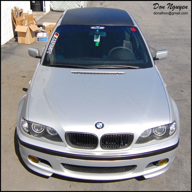 BMW 330i ZHP Sedan - Matte Carbon Fiber Roof Vinyl Car Wrap