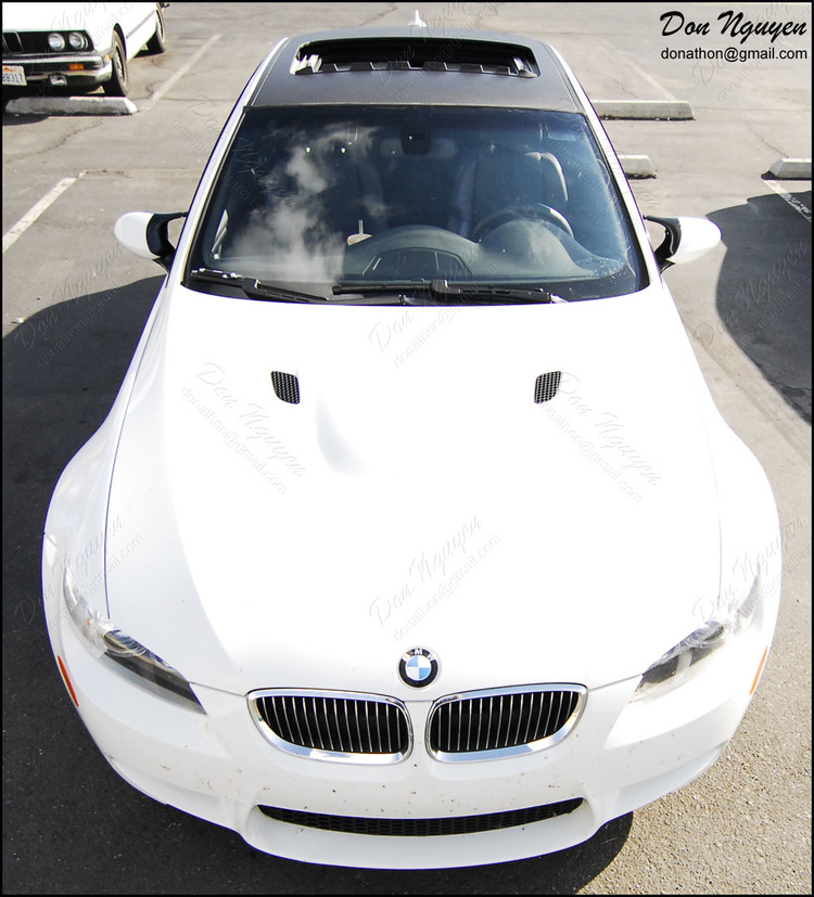 BMW E92 M3 Coupe - Matte Carbon Fiber Vinyl Roof Wrap