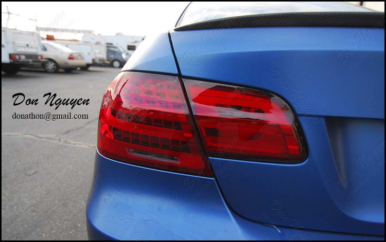 BMW E92 M3 Coupe - Tinted Tail Lights Vinyl Wrap