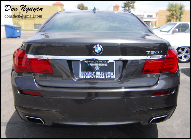 BMW F01 750i Sedan - Tail Light Tint Vinyl Wrap