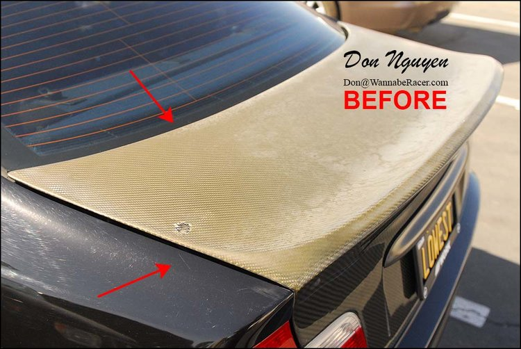 BMW E46 325i - Carbon Fiber Oxidation Repair Alternative