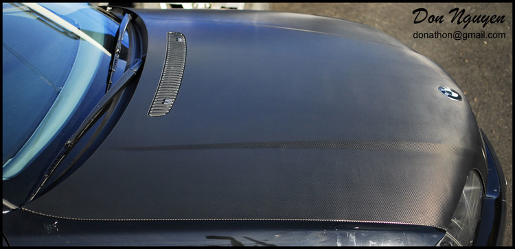 BMW E46 328 Coupe - Gloss Carbon Fiber Hood Car Wrap