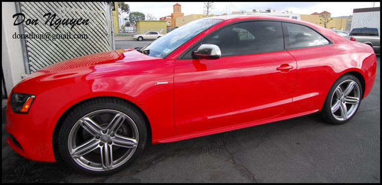 Audi S5 Coupe - Matte Black Window Trim Vinyl Wrap