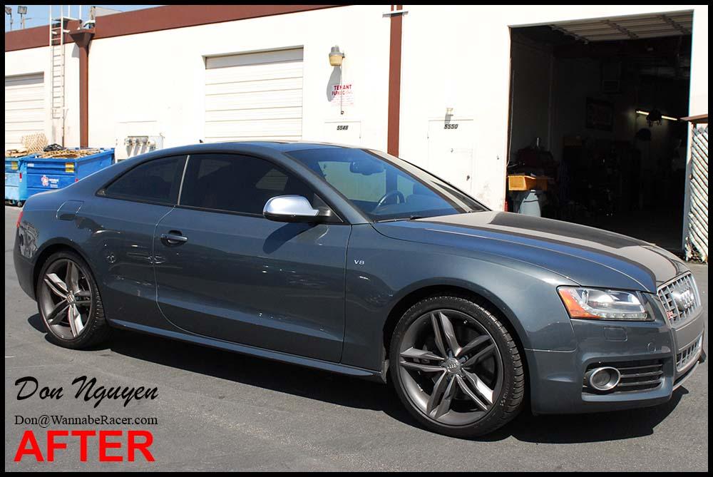 Audi S5 Coupe - Gloss Black Window Trim Vinyl Car Wrap