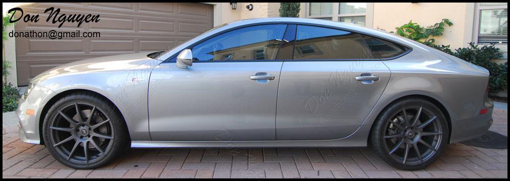 Audi A7 Sedan - Matte Black Window Trim Vinyl Car Wrap