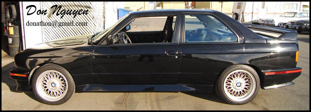 BMW E30 M3 Coupe - Matte Black Window Trim Vinyl Wrap