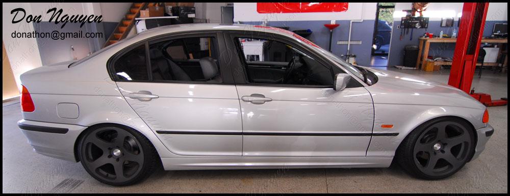 BMW 325i E46 Sedan - Matte Black Window Trim Vinyl Car Wrap