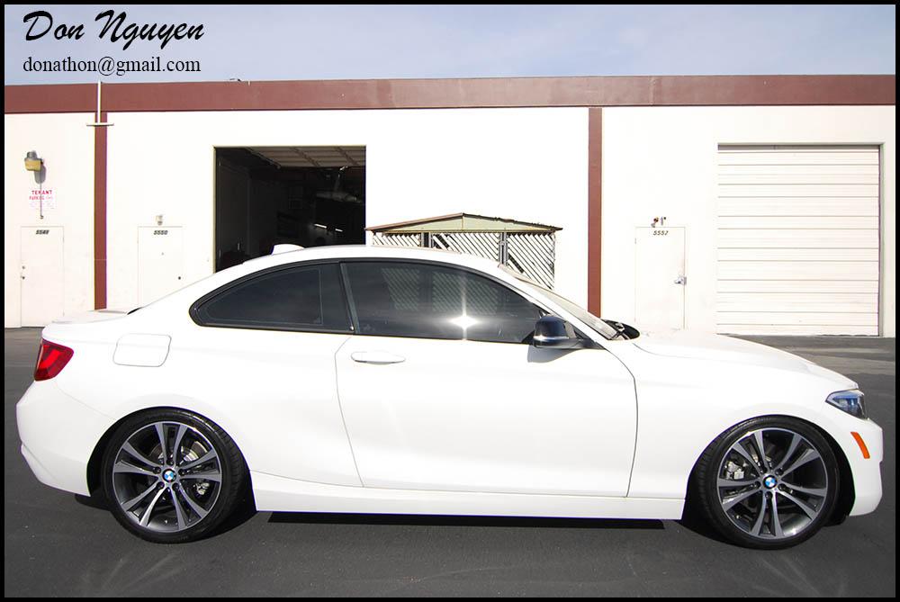 BMW F22 235i Coupe - Gloss Black Window Trim Wrap