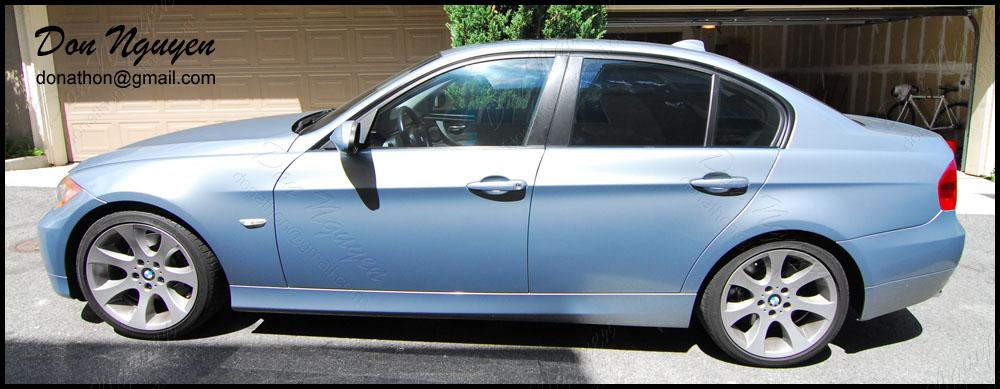 BMW 328i E90 Sedan - Matte Black Window Trim Vinyl Car Wrap