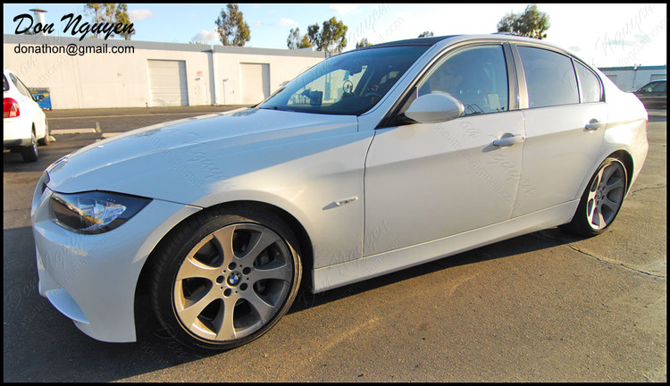 BMW 335i E90 Sedan - Matte Black Window Trim Vinyl Car Wrap