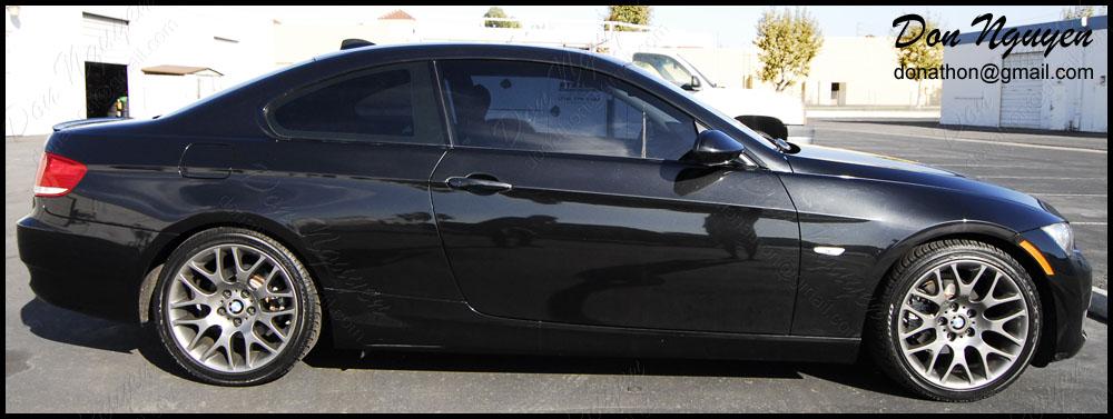 BMW 328i E92 Coupe - Gloss Black Window Trim Vinyl Car Wrap