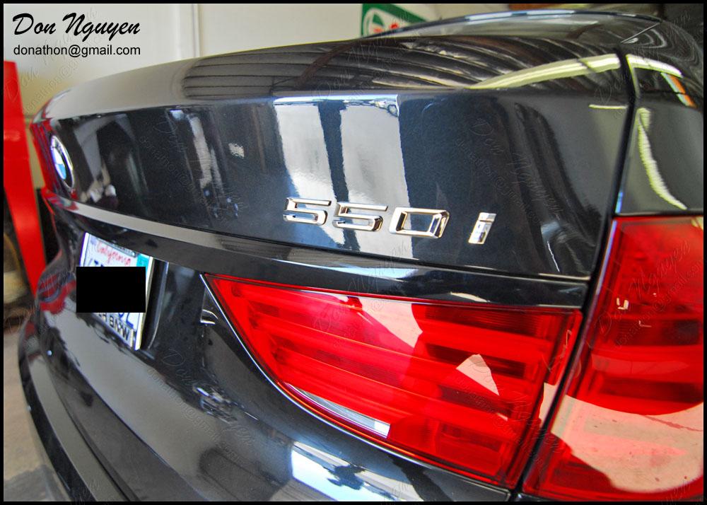 BMW F10 550i GT Sedan - Gloss Black Trunk Bar Trim Vinyl Car Wrap