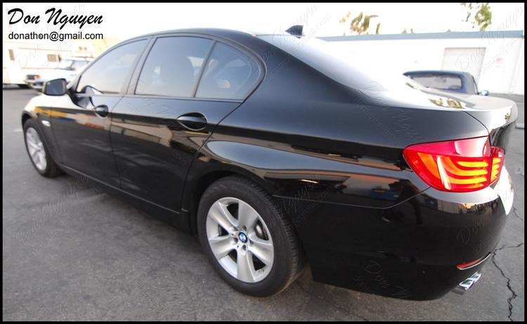 BMW 525i F10 Sedan - Matte Black Window Trim Vinyl Car Wrap