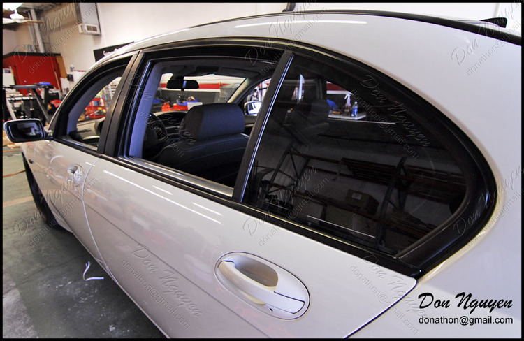 BMW 745il E65 - Gloss Black Window Trim Vinyl Car Wrap
