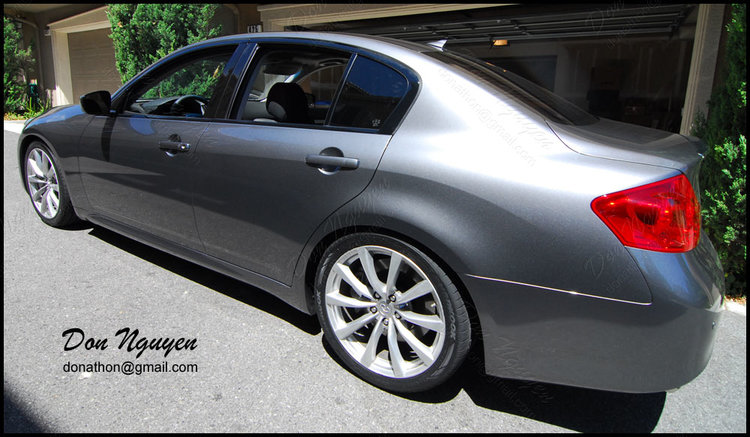 Infiniti G37 Sedan - Gloss Black Window Trim Vinyl Car Wrap