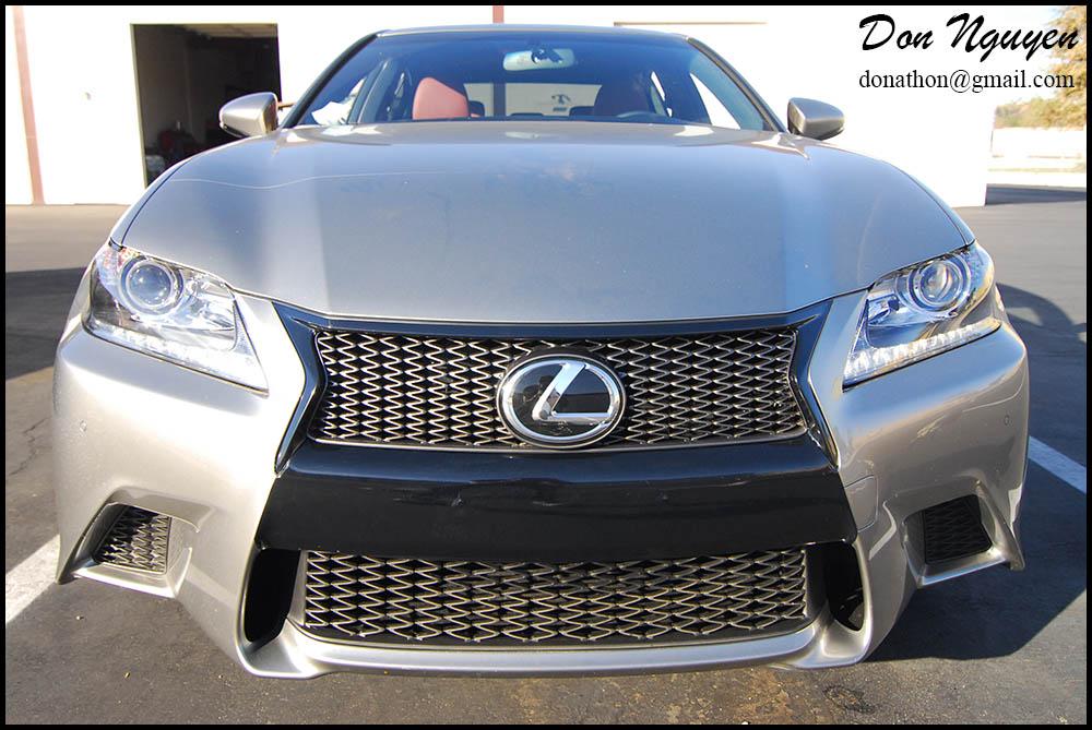 Lexus GS350 - Gloss Black Window Trim, Front Grill and Center Bumper Vinyl Car Wrap