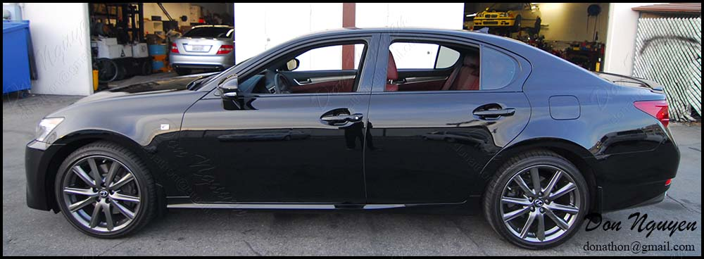 Lexus GS350 Sedan - Gloss Black Window Trim, Grill, Trunk Vinyl Wrap