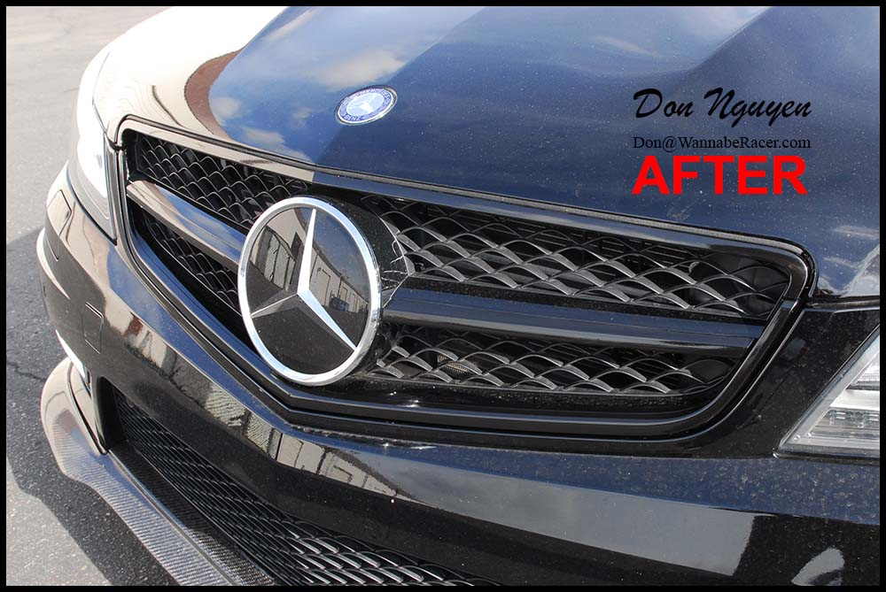 Mercedes Benz C63 AMG Coupe - Gloss Black Window Trim and Grill Vinyl Car Wrap