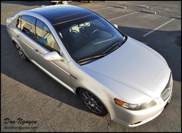 Acura TL -S - Gloss Black Roof Vinyl Car Wrap