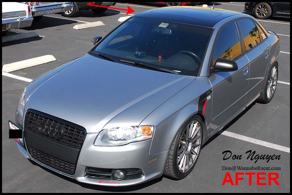 Audi A4 B7 Sedan - Gloss Black Roof Vinyl Car Wrap